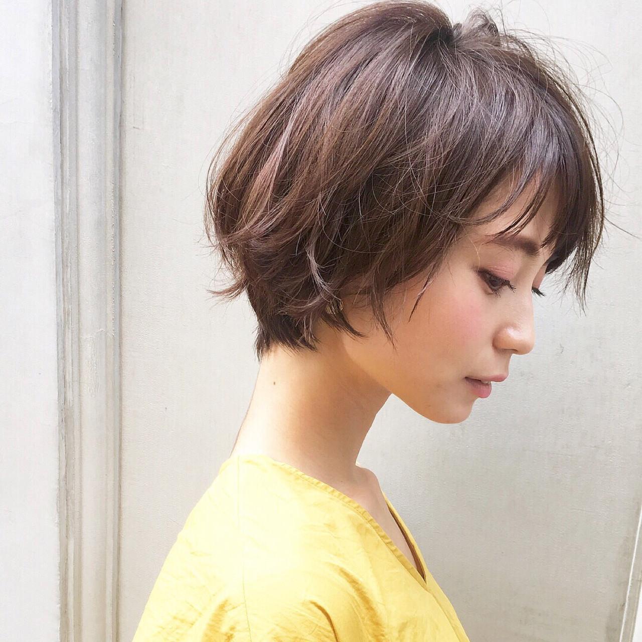 ショートヘア アレンジ コテ 簡単