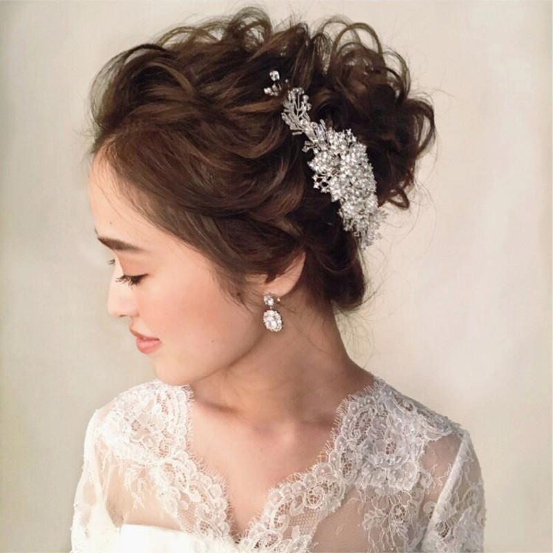 結婚式 花嫁 髪型 ロング