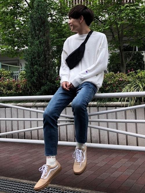 ウエストポーチ ファッション メンズ