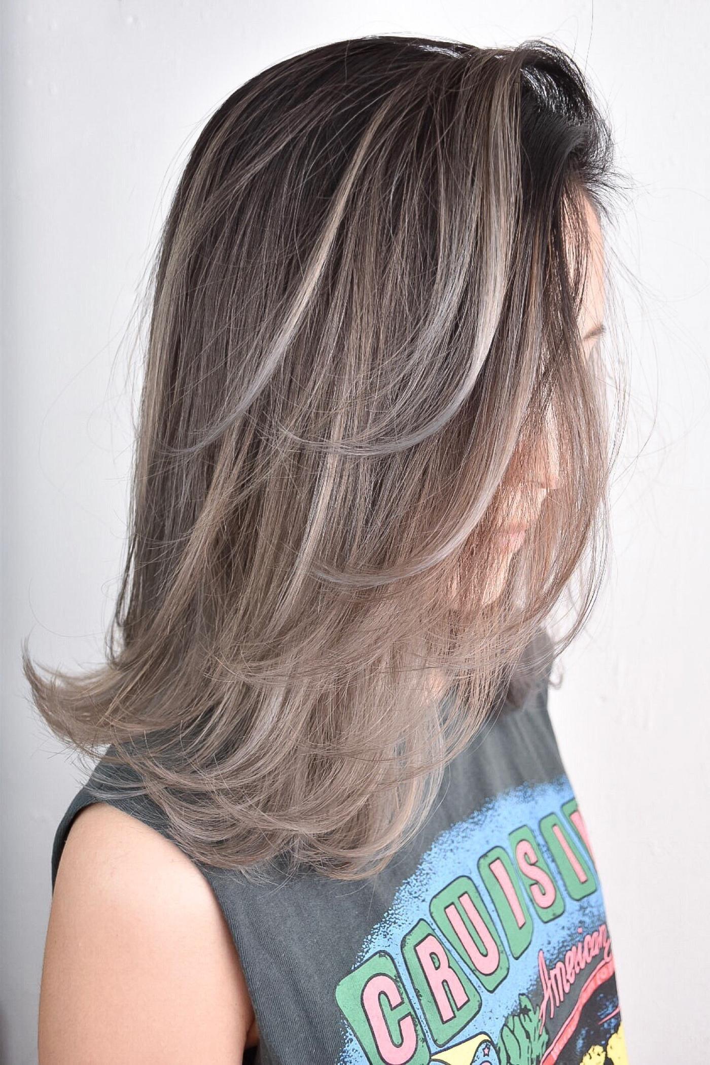 ホーユー ビューティーン メイクアップカラー グレージュアッシュ 黒髪