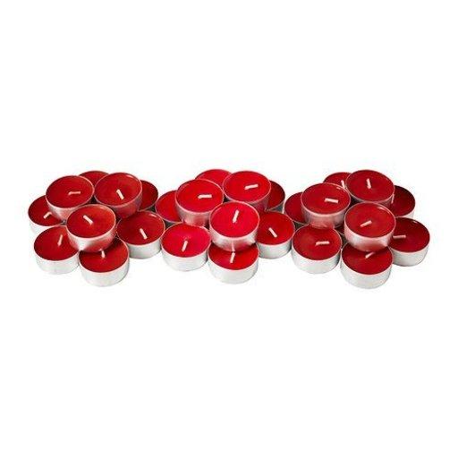 IKEA SINNLIG 30237708 香り付ティーライト スイートベリー レッド 30 ピース