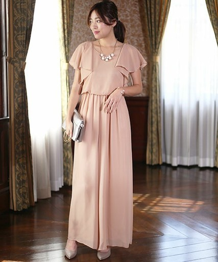 82c891a110aaa  WEB限定 結婚式・発表会 ◇ラッフルロングパンツドレス