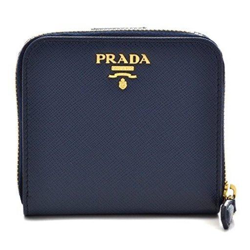 10e7a18f3021 PRADA(プラダ) 財布 サフィアーノ レディース 二つ折り財布 1ML522 QWA 216 [並行輸入