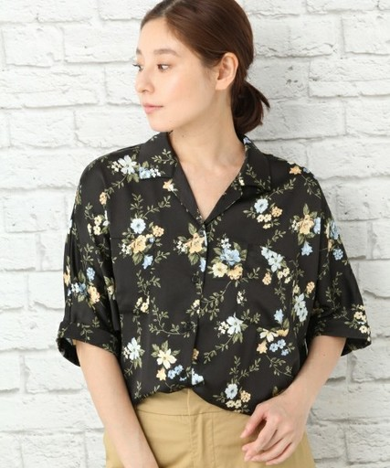 4644e46e714a02 今じわじわ流行中!レディース開襟シャツでアンニュイガールに♡   ARINE ...