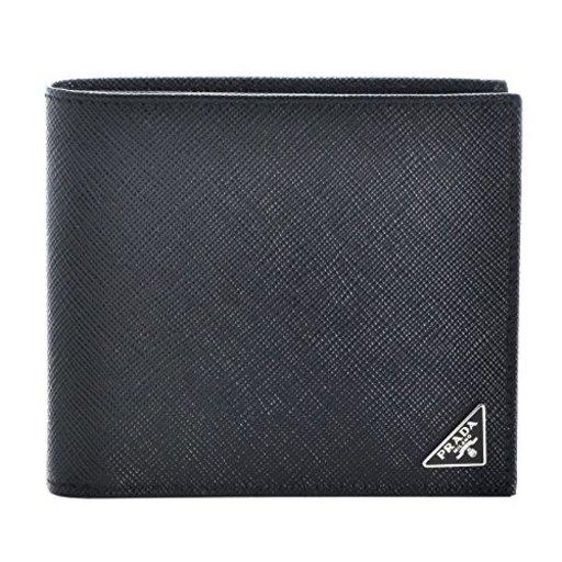 375dba84e2a1 PRADA(プラダ) 型押しカーフスキン メンズ 二つ折り財布 2MO738 QHH 002 [