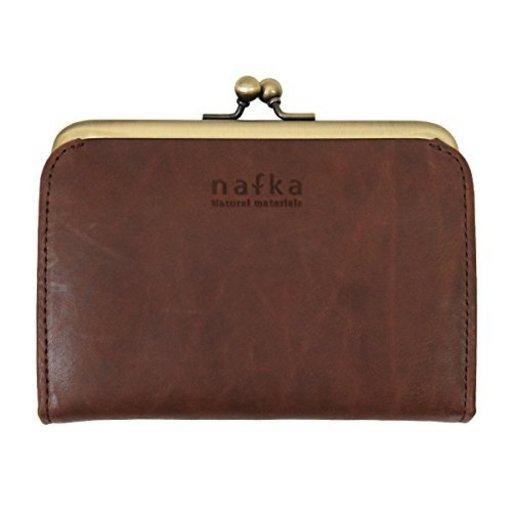 4424d4ecc3b5 [ナフカ] nafka 折り財布 レディース がま口 本革 日本製 ショートウォレット【NFK
