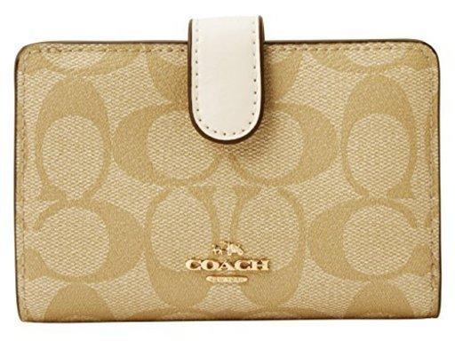 4d6243647fc9 [コーチ] COACH 財布 (二つ折り財布) F23553 ライトカーキ×チョーク シグネチャー