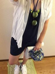 水着を普段着として着用する夏コーデのお洒落テク7選♡
