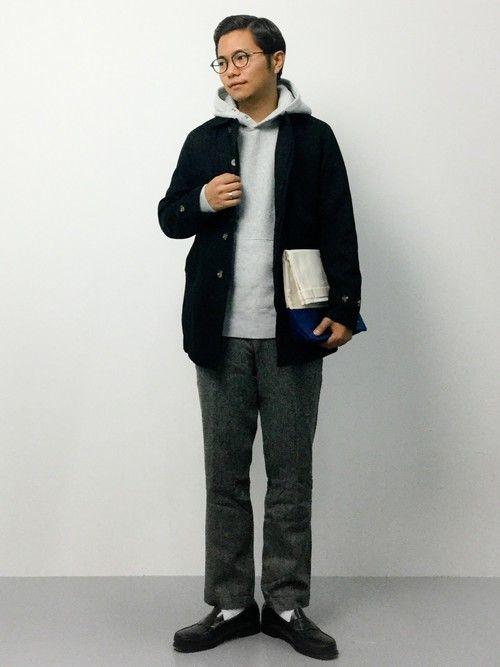 初秋〜冬のお洒落!メンズプルパーカーの着こなし術の9枚目の画像