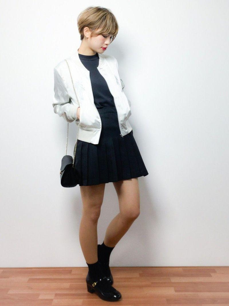 【保存版】長さ別!黒のプリーツスカート着まわしコーデ26選♡