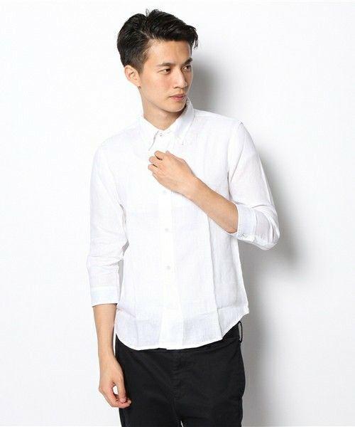4ec3c1325802e 白シャツって着ているだけでなぜだか男性は誠実で真面目な印象を受けます。「シンプルだけどきちんと着こなしていたらかっこいい!」そんなアイテムが白シャツ♪そして  ...