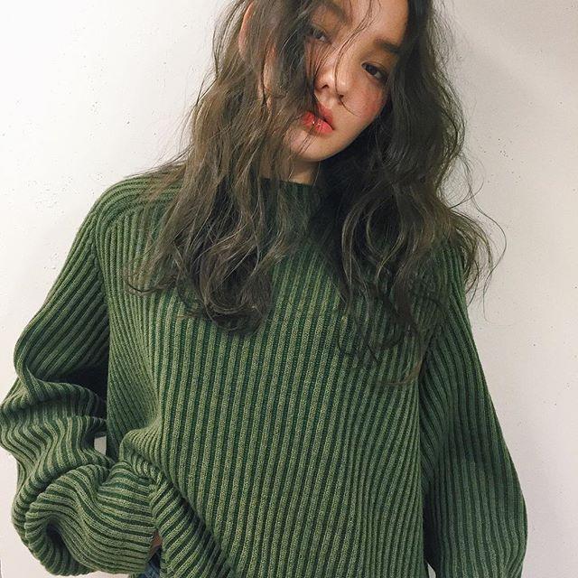 【前髪なし×パーマは最強モテ髪!?】セミロングヘアカタログ