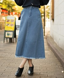 着回し度No.1♡デニムロングスカートのタイプ別コーデまとめ