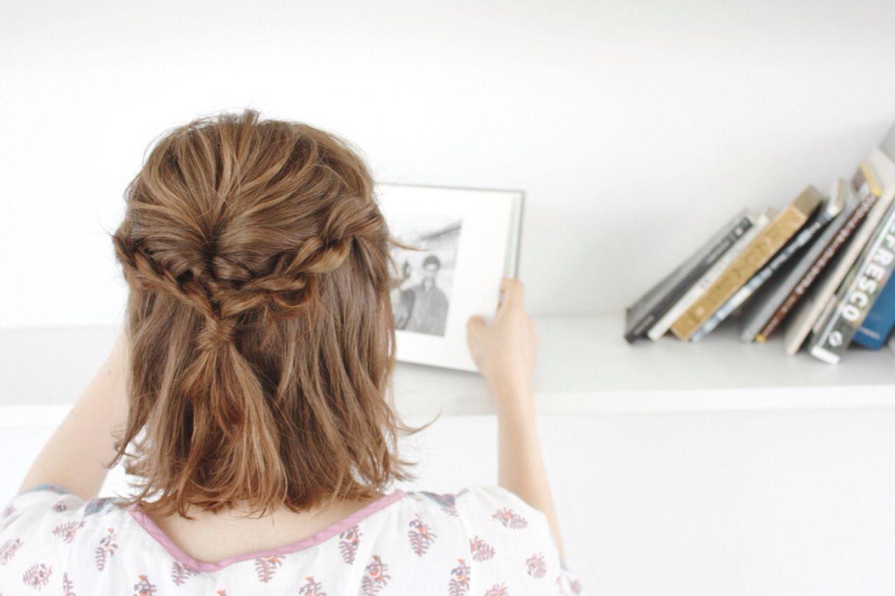 女子力高め簡単ヘアアレンジならこれ♡三つ編みハーフアップのやり方の4枚目の画像