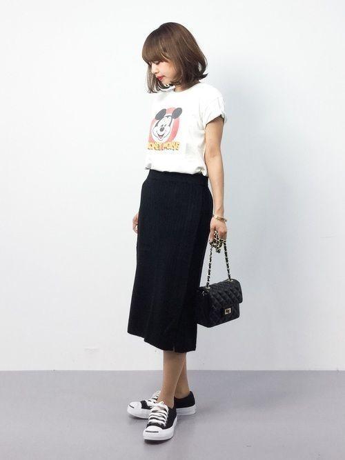 大人女子必見♡ペンシルスカートでつくる夏→秋着回しコーデの2枚目の画像