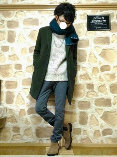 秋服メンズファッション。マットカラー・スモーキーカラーがトレンド!