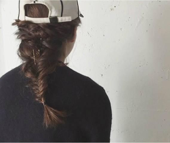 前髪セット方法も♪ロングヘア女子向けかわいいキャップのかぶり方♡の8枚目の画像