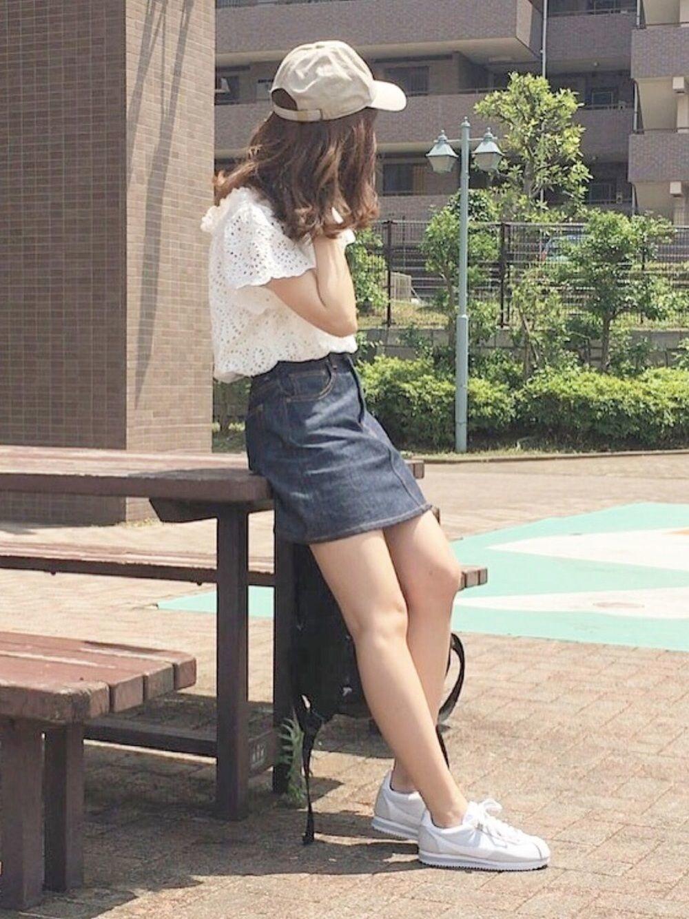 【保存版】デニムスカートで作る!夏の爽やかカジュアル ...
