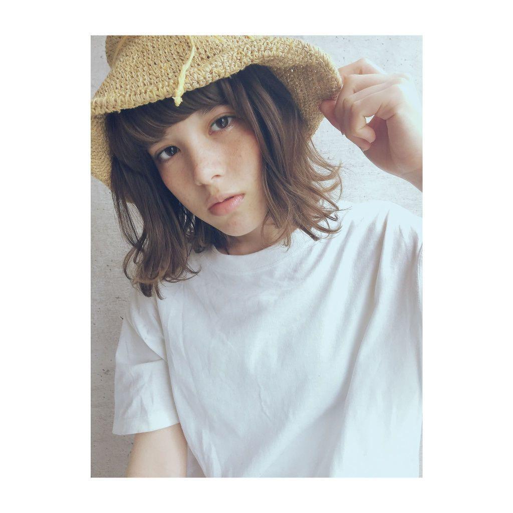 【レディース】麦わら帽子×ショートのヘアアレンジ♡