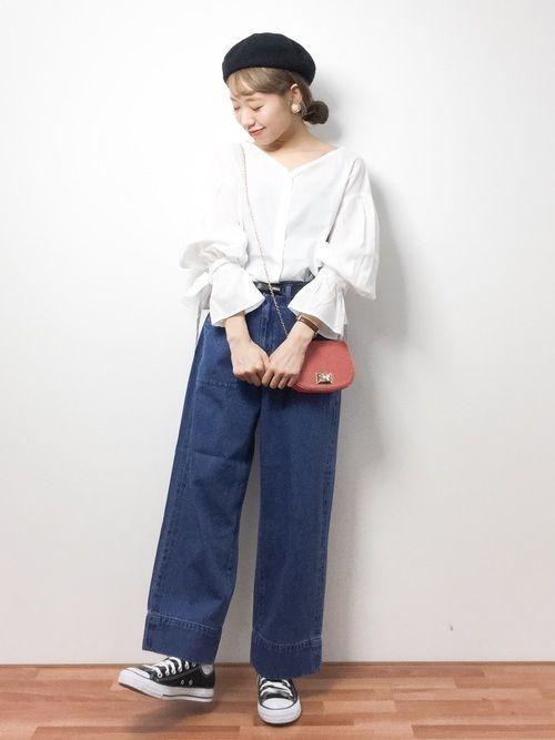 【2019年トレンド】ベイカーワイドパンツ着こなしコーデ特集♡の7枚目の画像