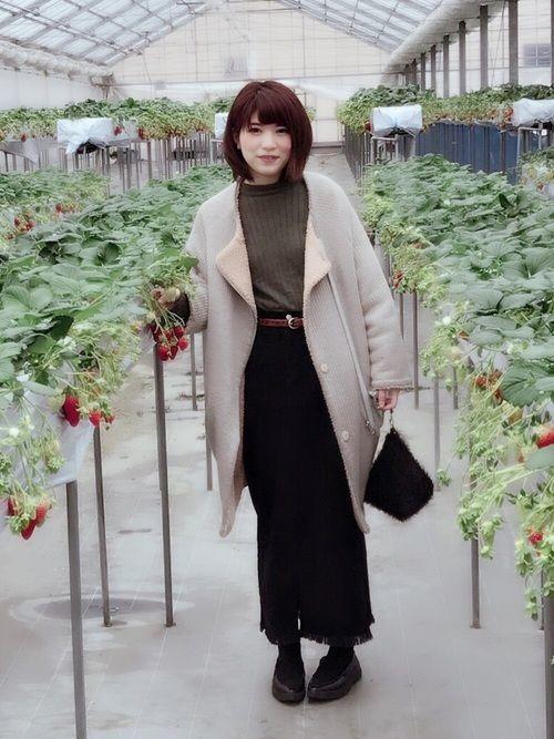 ロングスカート×コートが最強♡この秋冬に使えるコーデ集19選の5枚目の画像