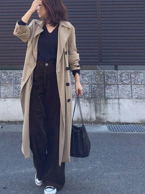 冬の着こなしコーデ《ワイドパンツ×コートor靴》のおすすめ♡の4枚目の画像