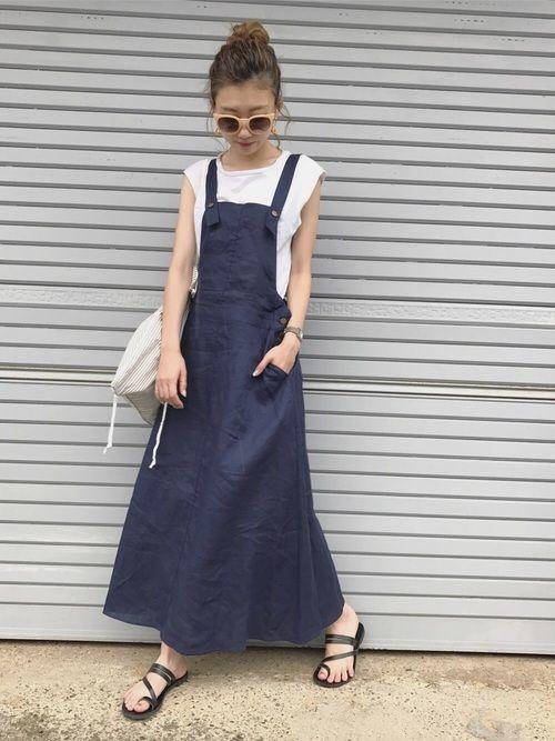 デニムジャンパースカートで作る夏っぽカジュアルコーデ♪