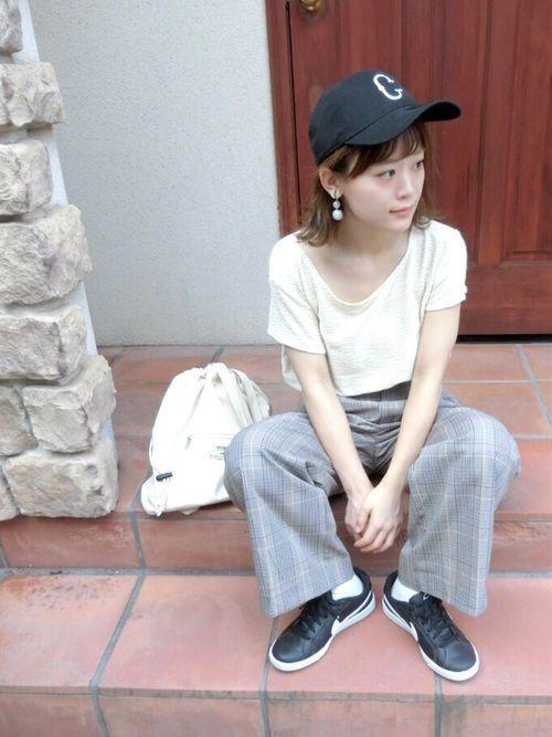 前髪セット方法も♪ロングヘア女子向けかわいいキャップのかぶり方♡の22枚目の画像