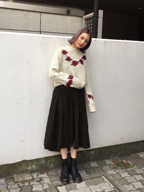 【コーデュロイスカート】で秋冬おしゃれを制覇せよ!♡の3枚目の画像