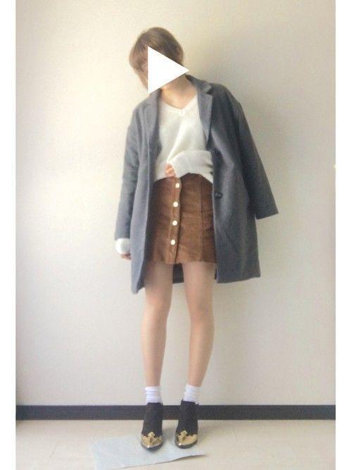 【コーデュロイスカート】で秋冬おしゃれを制覇せよ!♡の8枚目の画像