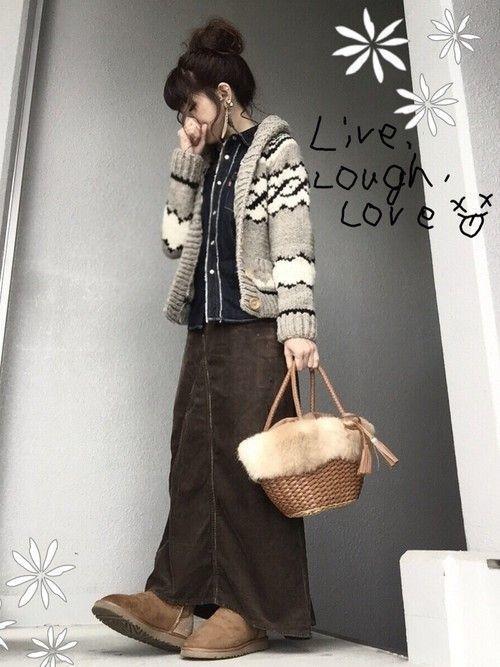 秋冬注目のアイテム【カウチンニット・セーター】でおしゃれコーデ♪の1枚目の画像