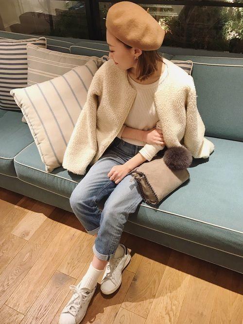 【2020年】暖かさとかわいいのW取り♡ボアジャケットコーデ特集