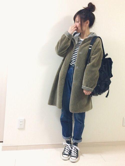 2020年】暖かさとかわいいのW取り♡ボアジャケットコーデ特集