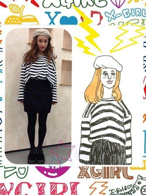 秋冬感をプラスするのがポイント☆ハイウエストスカートのコーデ紹介の3枚目の画像