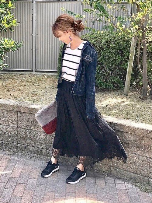 【2018年秋冬】マキシスカートの秋冬レディースコーデまとめ!の2枚目の画像