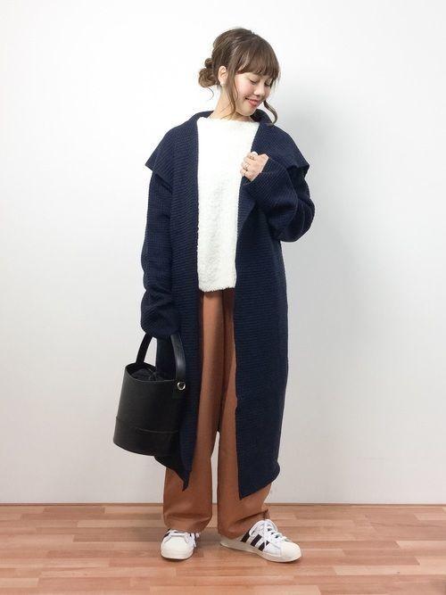 28e539764ccb15 「B.I.D. 」のニットコートは、フード付きのデザインがポイントです♪カジュアルな装いにもぴったりなニットコート なので、OFFモードにgood!男女兼用のニットコート ...