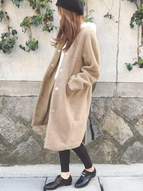 【シーン別】真冬でもあったかい♡ボアコートのトレンドコーデ