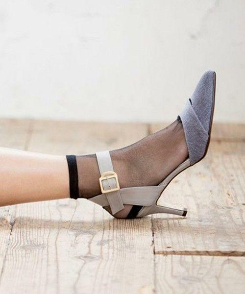 靴下合わせで可愛さアップ♡セパレートパンプスをアップデートせよ!