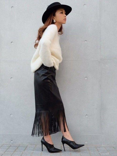 おすすめコーデ紹介も!【レザースカート】でハイセンスにキメよ♡の7枚目の画像