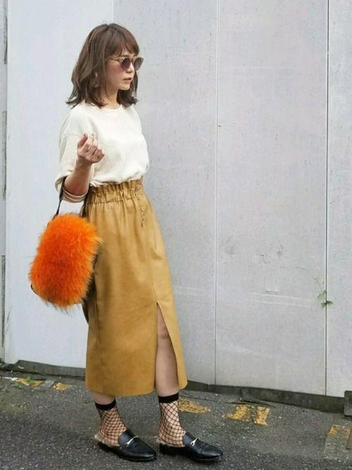 レザータイトスカートで秋冬コーデがしまる!の8枚目の画像