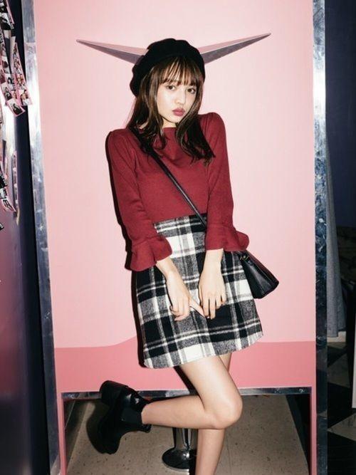 【秋冬の定番アイテム】チェックフレアスカート特集♡の2枚目の画像
