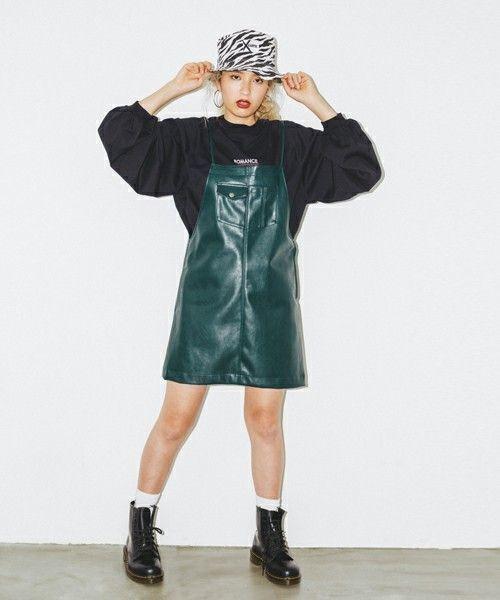 レザータイトスカートで秋冬コーデがしまる!の4枚目の画像
