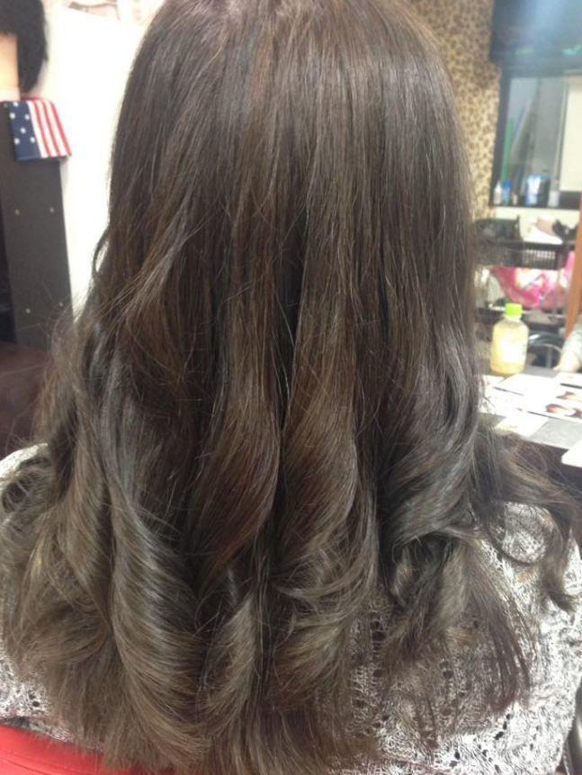【暗髪・アッシュ】フレンチセピアアッシュで透明感のある髪色に♡の2枚目の画像