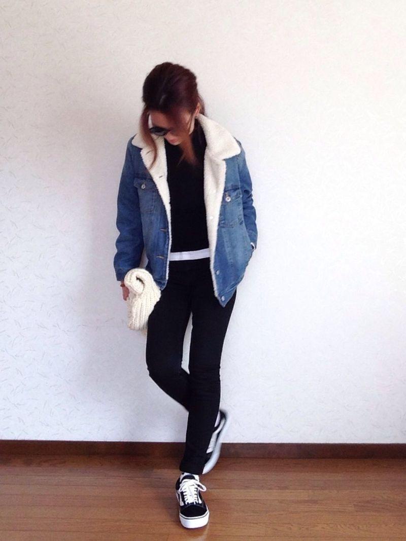 【レディース必見】秋冬はボアデニムジャケットでカジュアルに♡