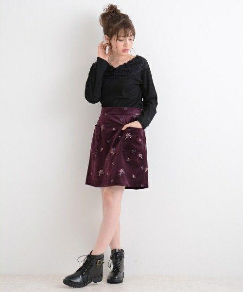 【全部プチプラ】トレンドのベロアスカートで秋冬も可愛いさを演出♡
