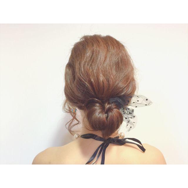 あざとかわいい♡お団子ヘアで簡単かわいいヘアアレンジに仕上げる!の17枚目の画像