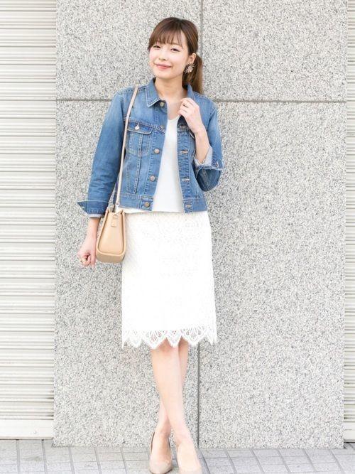 オフィスだって色っぽくいたい♡レースタイトスカートのコーデ紹介の6枚目の画像