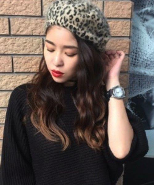 【ロングの方必見】ベレー帽、冬のマストアイテムのかぶり方!の10枚目の画像