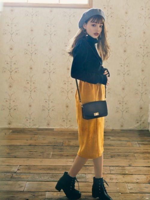 【保存版】スタイルアップを叶えるスウェットタイトスカートコーデ♥の5枚目の画像
