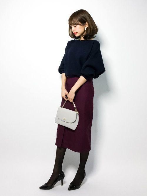 【保存版】スタイルアップを叶えるスウェットタイトスカートコーデ♥の6枚目の画像